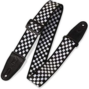 Perri's Leathers LPCP-591 Polyester Double Sided Design, White/Black Checkers