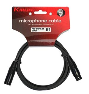 Kirlin Microphone Cable 6FT MPC-270-6FT BK