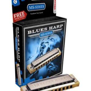 Hohner MS-Series Blues Harp in D – M533056x