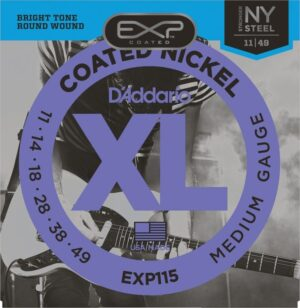 D'Addario – EXP115 Coated Nickel Plated Electric Strings