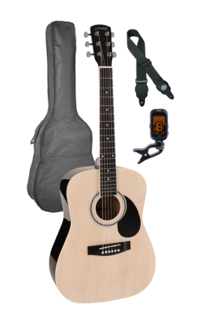 Nashville GSD-6034-NT – 3/4 Scale Guitar Pack – Natural with bag