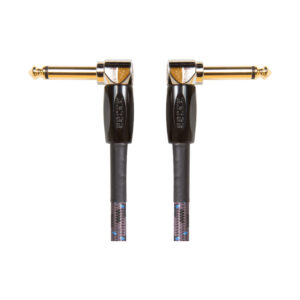 Boss 6inch/15cm Guitar/Bass Instrument Cable Angle Jack 3 Pack