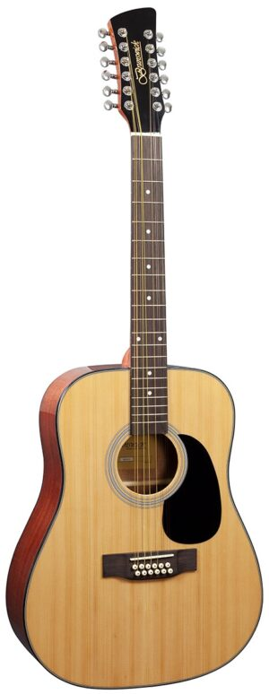 Brunswick Dreadnought 12 String Natural W/Gig Bag and a Free Lesson