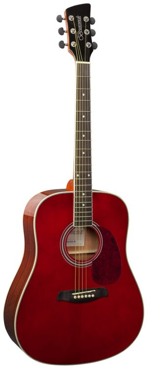 Brunswick Dreadnought Red Gloss W/Gig Bag and a Free Lesson
