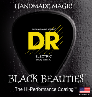 DR Strings Black Beauties Electric Extra Heavy