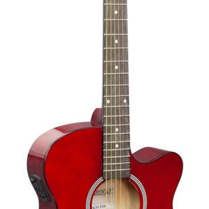 Brunswick Grand Auditorium Electro Dark Red Gloss W/ FREE Gig Bag, Tuner, Strap and a Lesson