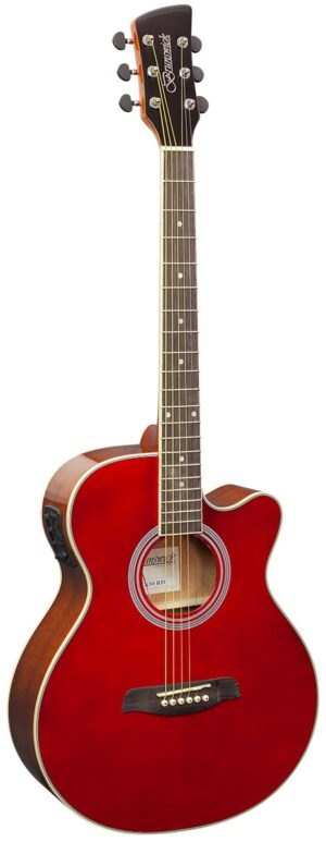 Brunswick Grand Auditorium Electro Red W/Gig Bag and Free Lesson