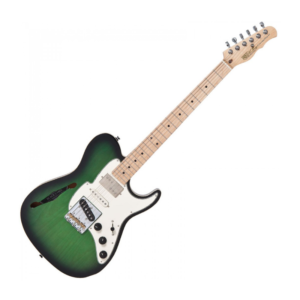 Fret King Country Squire Semitone Special – Ash Green Burst w Fret King Gigbag