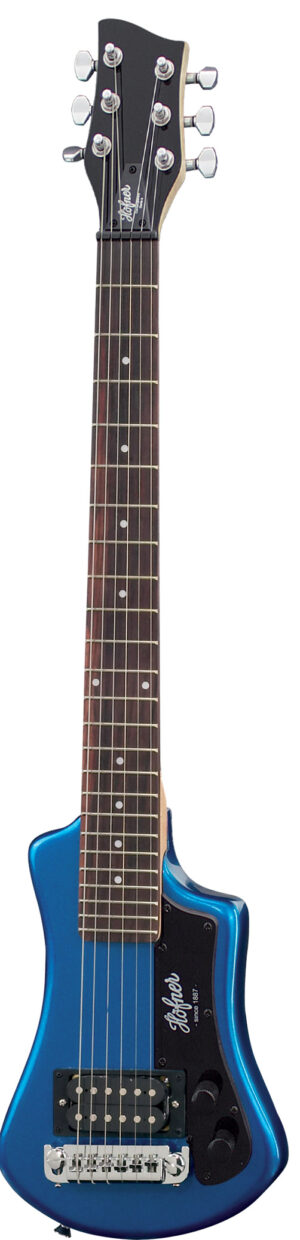 Hofner HCT Shorty Guitar – Blue W/Gig Bag and a Free Lesson