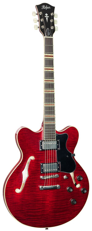 Hofner HCT Verythin – Red W/Gig Bag and a Free Lesson