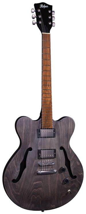 Hofner Verythin UK Exclusive – Black Stain W/Gig Bag and a Free Lesson