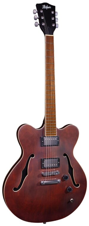 Hofner Verythin UK Exclusive – Dark Stain W/Gig Bag and a Free Lesson