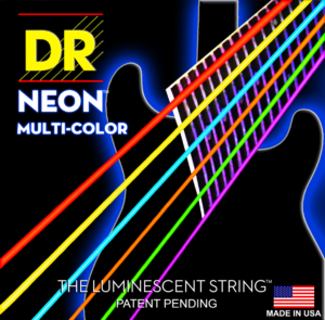 DR Strings Hi-Def Neon Red Electric Heavy