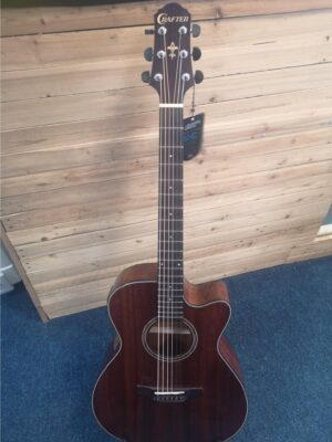 Crafter HT-250CE MH/BR Electro Acoustic Guitar W/Gig Bag and a Free Lesson