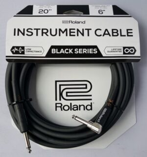 Roland 20ft/6m Gold Series Instrument Cable Jack to Angle Jack – RIC-B20A