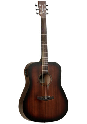 Tanglewood Crossroads TWCR DE Electro Acoustic – Whiskey Barrel Burst With Guitar Stand, Gig Bag, Strap and Tuner