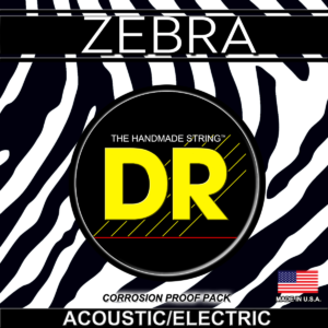 DR Strings Zebra Acoustic-Electric Extra – Light