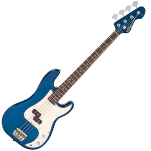 Vintage V4 Reissued Bass Guitar ~ Bayview Blue W/Gig Bag and a Free Lesson