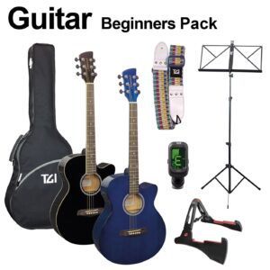 Brunswick Acoustic guitar pack with extras Black or Blue