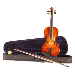 Koda Beginner Violin, 4/4 Size Fiddle, Antique Brown Matt Finish, Comes with Case, Bow and Rosin