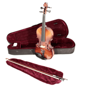 Violin, Koda 1/4 Size Traditional  Violin with Case, Bow and Rosin, Natural