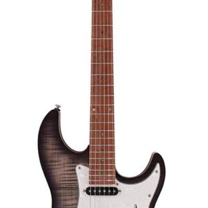 Sire Guitars S7 Series Larry Carlton Electric Guitar S-style with Flamed Maple Top in Transparent Black