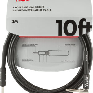 Professional Series Instrument Cable, Straight-Angle, 10′, Black