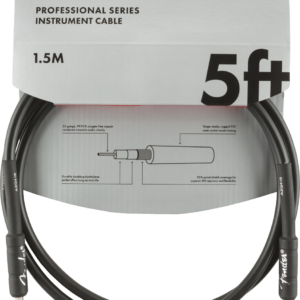 Professional Series Instrument Cable, Straight/Straight, 5′, Black